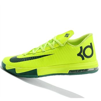 High Quality Nike KD6 Fluorescent green black Kevin Durant Basketball shoes