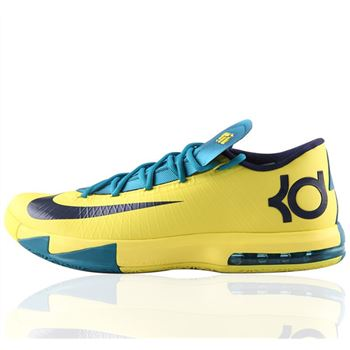 High Grade NIKE KD6 Kevin Durant Yellow Black Basketball shoes
