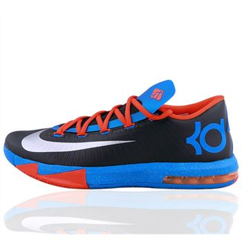 Classic NIKE KD6 Kevin Durant Blue Basketball shoes