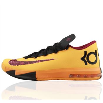 Fashion NIKE KD6 Kevin Durant Orange Basketball shoes