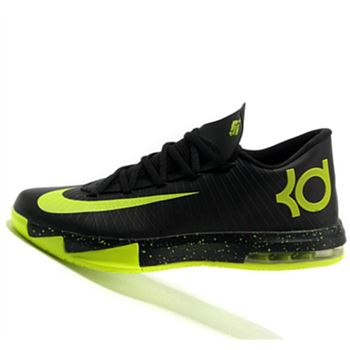 Discount Nike KD6 Kevin Durant Fluorescent Black history Basketball shoes