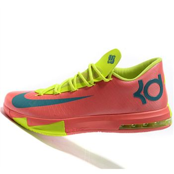 Fabulous Nike KD6 green red Kevin Durant Basketball shoes