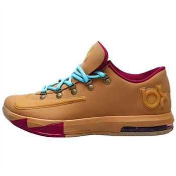 Low price NIKE KD6 Kevin Durant Brown Basketball shoes