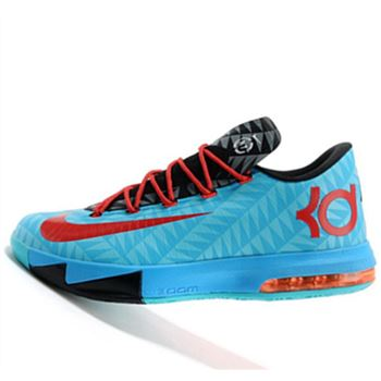 Hot Black Nike KD6 N7 blue black Kevin Durant Basketball shoes