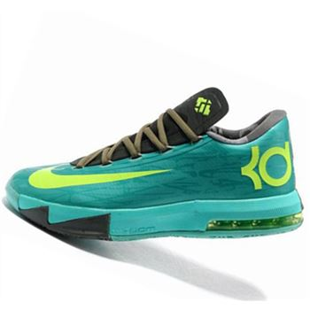 Low cost Nike KD6 black green Kevin Durant Basketball shoes