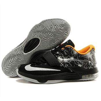 Fashion NIKE KD VII KD 7 Black white 2014 Basketball Shoes