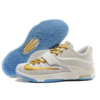 Best NIKE KD VII KD 7 white gold Shoes