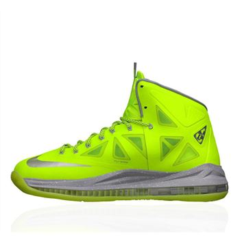 Classic Nike Lebron X Volt Dunkman Basketball Shoes