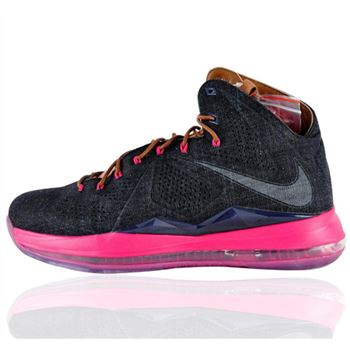 Designer Nike Lebron 10 X EXT DENIM QS Basketball Shoes