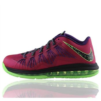 Good NIKE LEBRON X LOW LBJ10 Eggplant Color Basketball Shoes