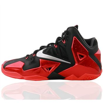 Fashion Nike LEBRON XI 11 Black red Basketball Shoes