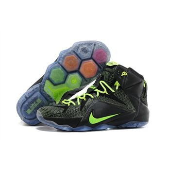 Best price for Nike Lebron James 12 Black Green